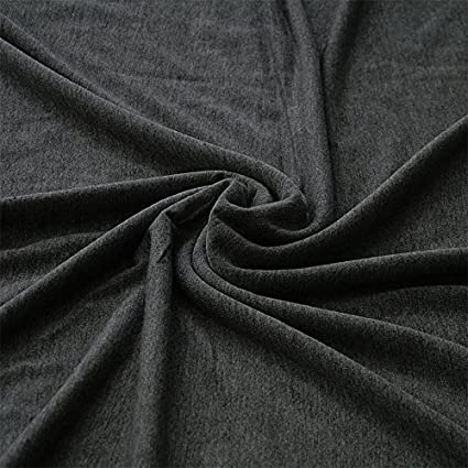 92ec7a30395 Plain Viscose Elastane Stretch Jersey Fabric 150 cm wide per metre  (Charcoal Grey): Amazon.co.uk: Kitchen & Home
