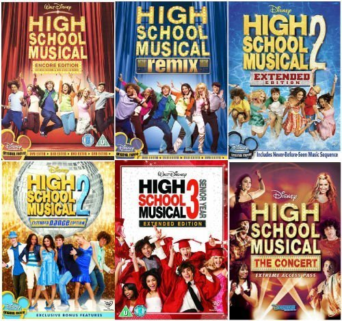 The Complete High School Musical 1 -3 DVD Collection- Encore Edition / High School Musical - Remix Edition /High School Musical 2 - Extended Edition / High School Musical 2 - Dance Edition / High School Musical 3 - Senior Year / High School Musical - The Concert (High School Musical Collection)