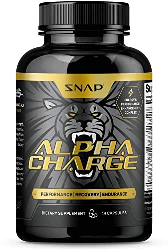 Libido Booster for Men – Alpha Male by Snap Supplements – L-Arginine, L-Citruline, Long Jax, Testosterone- Full Spectrum Nutrition for Firmness, Enhancement, Libido and Manhood – 14 Pills