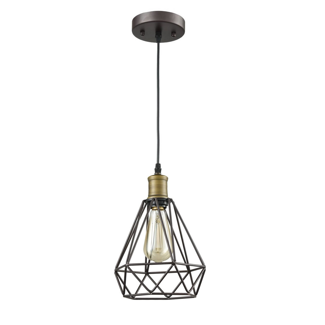 Yobo lighting vintage oil rubbed bronze polygon wire pendant light yobo lighting vintage oil rubbed bronze polygon wire pendant light art deco greentooth Gallery