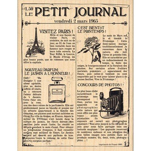 (Florilèges Design Stamp fh113027Scrapbooking Le Petit Journal Beige 13x 10x 2,5cm)
