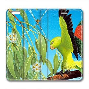 Bird Animal Cute Custom Leather Cover for iPhone 6 Plus By Cases & Mousepads