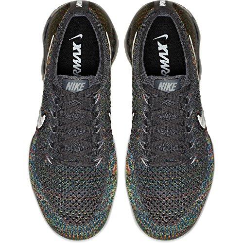 Nike Womens Air Vapormax Flyknit Scarpe Da Corsa Grigio Scuro / Riflettono Argento-blu Orbita