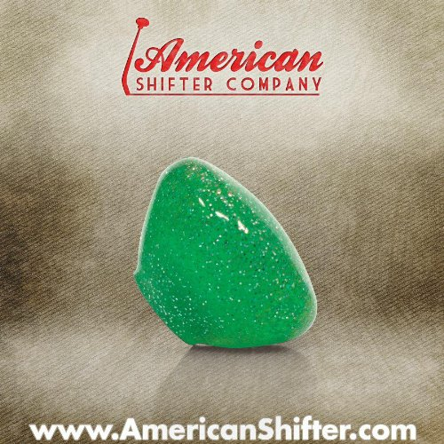 American Shifter 53767 Clear Green with Sparkle Retro Custom Shift Knob with Metal ()