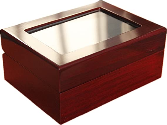 RECHIATO Championship Rings Sports Rings Display Case Box Ring Box with Slanted Window