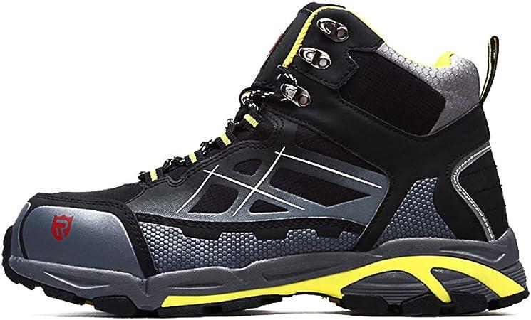 QINGMM Zapatos De Invierno De Trabajo Seguridad De Los Hombres, del Dedo del Pie De Acero Indestructible Antideslizante Zapatillas, Botas De Seguridad Industrial Y Construcción,Black(High),46 EU: Amazon.es: Hogar