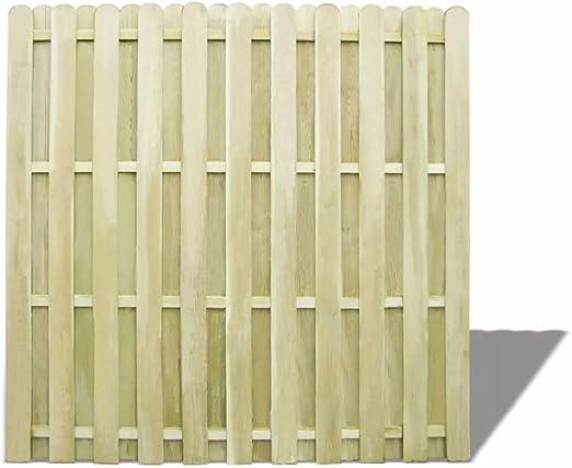 tiauant Bricolaje Vallas de jardín Paneles de Vallas Panel de Valla de Madera de Pino impregnada 180x180 cm vallas0: Amazon.es: Jardín