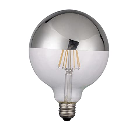 LightED Bombilla LED Globo Espejo E27, 6 W, Plata 125 x 170 mm