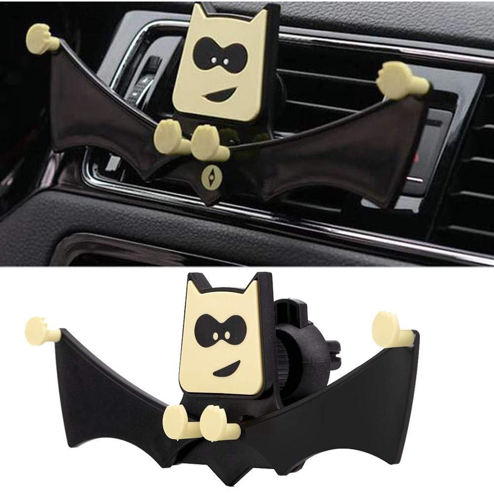 Supporto Universale per Telefono Cellulare Pipistrello Nero a Clip Asterisknew per Presa Auto