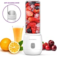 keiyallon Portable Blender, Mini USB Rechargeable Juicer Blender with 6 Stainless Steel Sharp Blades