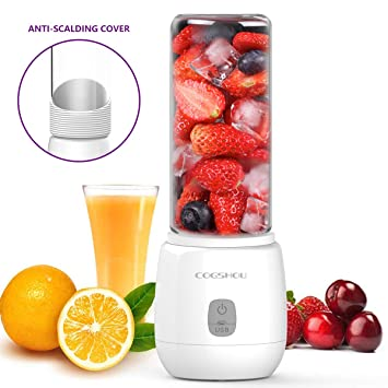 keiyallon USB Juicer 6 Blades Smoothie, Mini Portable Rechargeable, 4400  mAh Electric Juice Cup, Personal Blender for Traveling, Outdoor, Sports and