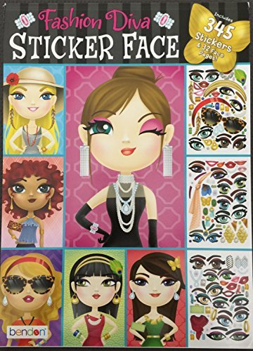 Fashion Diva Sticker Face