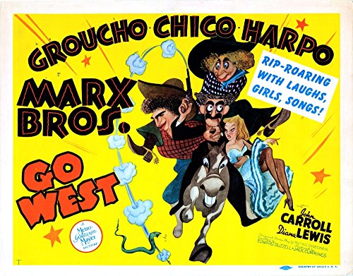 Posterazzi Go West Us Chico Groucho Harpo [Marx Brothers] 1940 Movie Masterprint Poster Print (14 x 11)