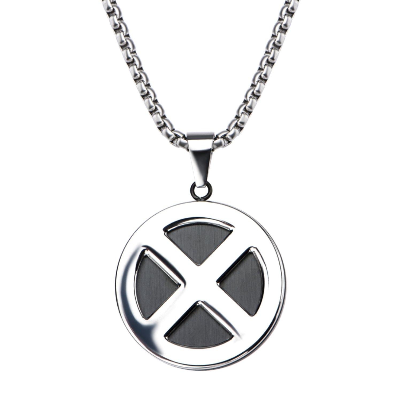 Marvel Comics Unisex Adult X Men Logo Stainless Steel Pendant