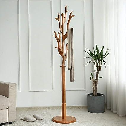 IG Percheros Perchero de pie Perchero de bambú con Forma de ...