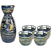 Juego de tazas de sake japonesas, diseño tradicional