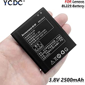 High Performance BL229 BL 229 Battery 3.8V 2500mAh for Lenovo A8 A806 A808T