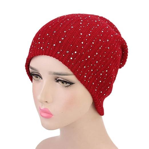 2181c338436 ZTY66 Clearance Sale ❤️Womens Winter Hats Women Lady Retro Hot Drilling  Winter Warm Crochet Knitted
