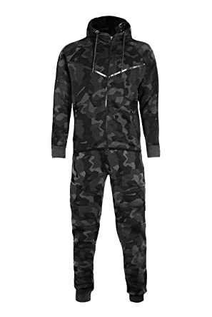 40ff59f6 Men's Army Camouflage Design Camo Tracksuit Hoodie Zipper Joggers 2 Piece  Designer Suit at Amazon Men's Clothing store: