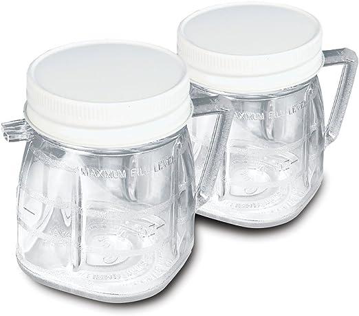 Oster 004888-011000-I - Pack de 2 minivasos con tapa: Amazon.es: Hogar