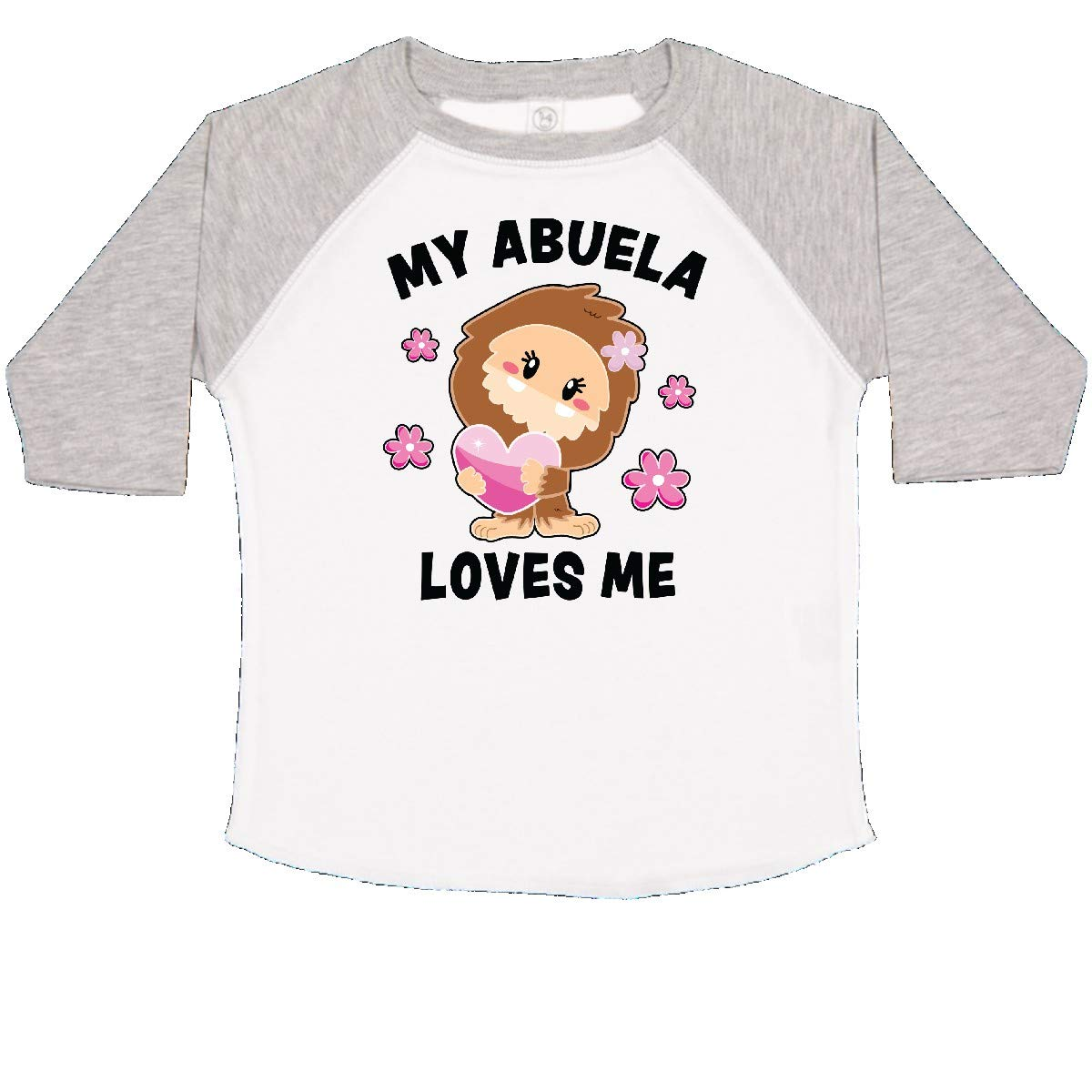 inktastic My Abuela Loves Me with Bigfoot Toddler T-Shirt