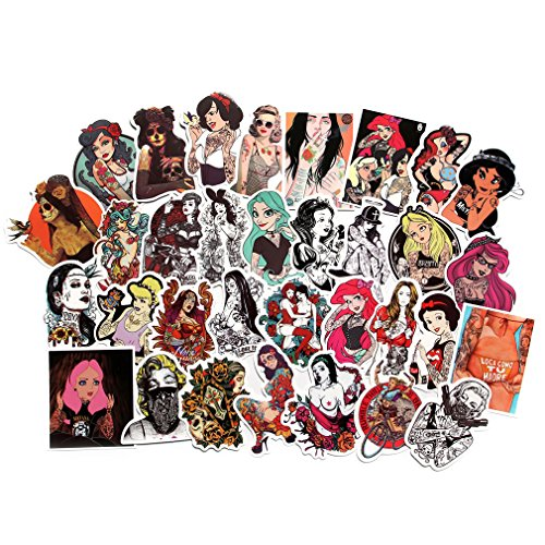 Why Should You Buy FNGEEN Sexy Women Stickers Pack [50pcs] Laptop Stickers Bomb Beauty Pinup Girls S...