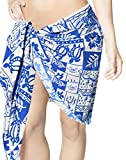 Tropical 70's Vintage Swimsuit Cover up Bikini Wrap Skirt Sarong Mini Canga 1X Fathers Day Gifts Spring Summer 2017