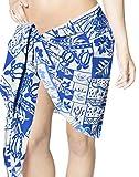 Tropical 70's Vintage Swimsuit Cover up Bikini Wrap Skirt Sarong Mini Canga 1X