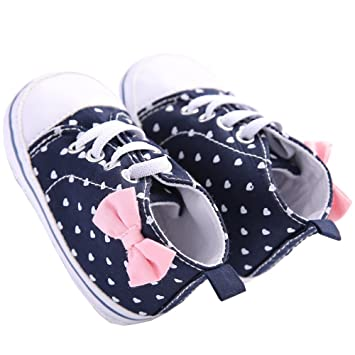Newborn Infant Baby Star Print Sneakers Anti-slip Soft Sole Toddler Crib Shoes