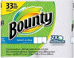 Bounty Select a Size, Servitoallas, 2 Rollos Grandes con 84 Hojas