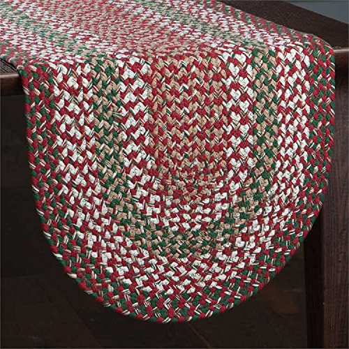 Park Designs Holly Berry Table Runner Braided Cotton Kitchen Linens