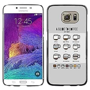 TopCaseStore / la caja del caucho duro de la cubierta de protección de la piel - Coffee Chart Guide Barista Cup Guide - Samsung Galaxy S6 SM-G920