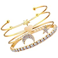 Jewels Galaxy Copper Charm Bracelet for Women (Golden) (CT-BNG-49006)