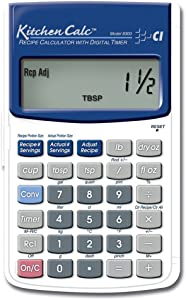 Calculated Industries 8300 KitchenCalc Recipe Conversion and Culinary Math Calculator with Digital Timer for Chefs, Culinary Students, Home Cooks and Bakers | Scale Recipes, Menu Plans, Portion Sizes