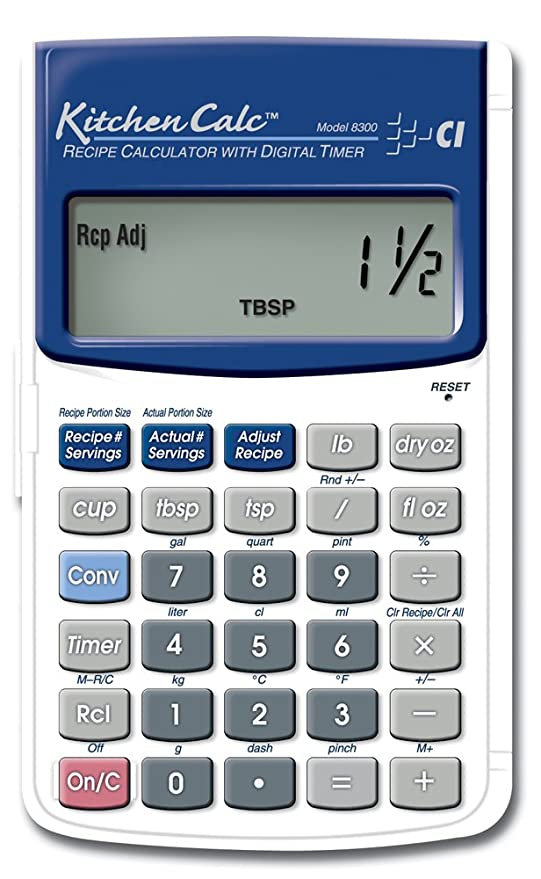 calculated industries kitchencalc 8300 recipe calculator with