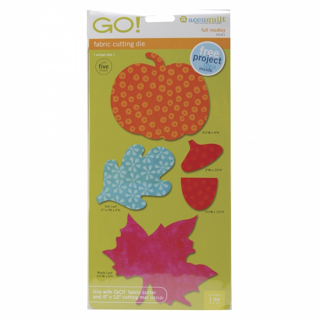GO! Fabric Cutting Dies-Fall Medley