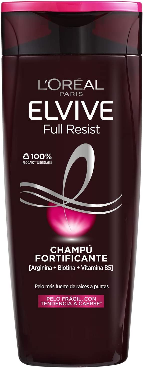 L'Oréal Paris Elvive Full Resist Champú Fortificante para Pelo Frágil con Tendencia a Caerse - 370 ml