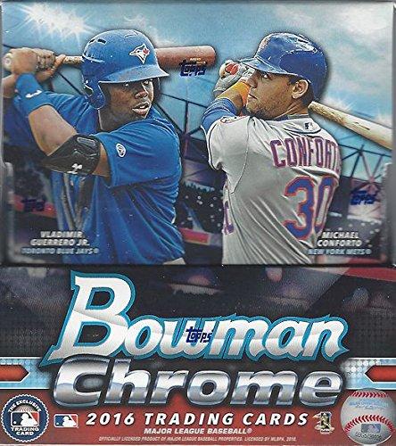 2016 Bowman Chrome Baseball Factory Sealed Hobby Box - 12 packs / 5 - Bowman Baseball Hobby Cards Chrome