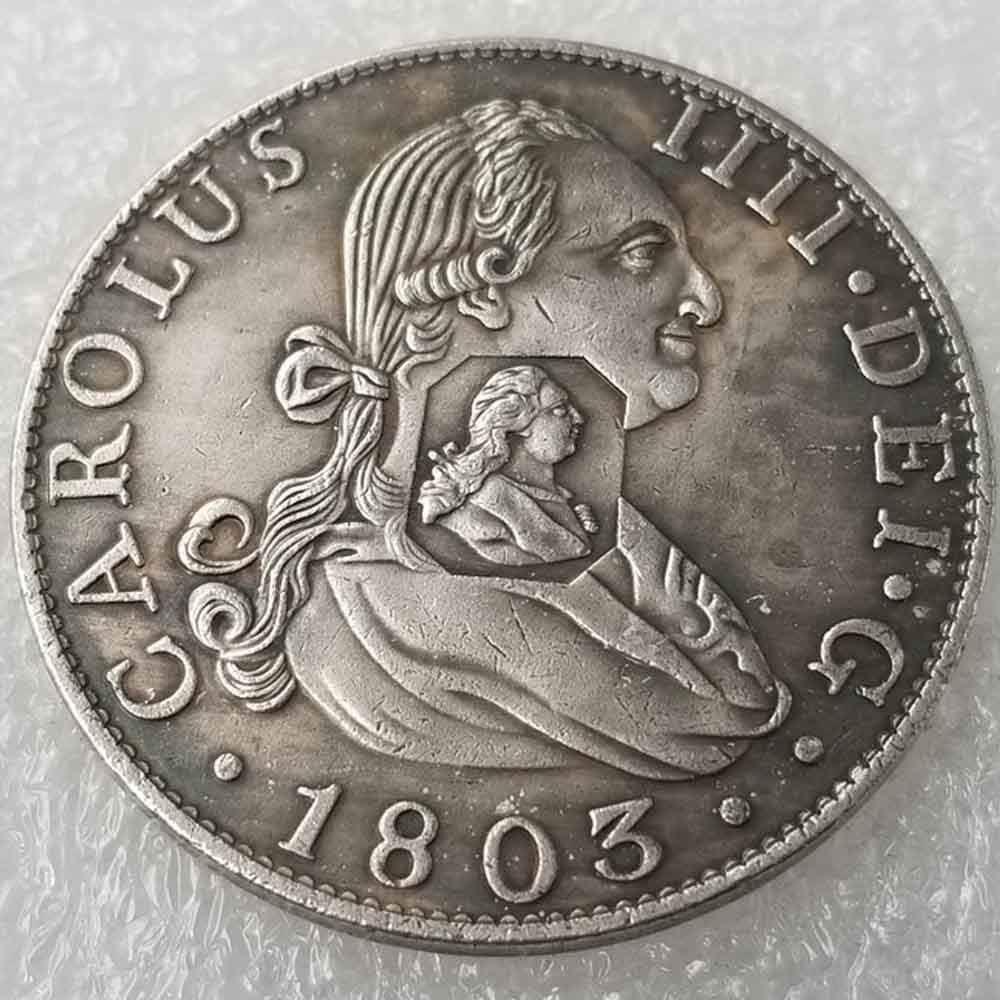 DDTing Best Morgan Silver Dollars – Moneda antigua del Reino Unido – 1803 – Colección de monedas – Plata Dólar Old Coin GoodService: Amazon.es: Hogar