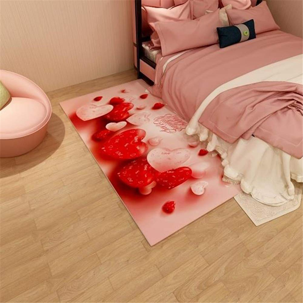 Best Seller Modern Chinese Style Living Room Carpet Home Heart Shaped Wedding Bedroom Bedside mat D1 120X160CM