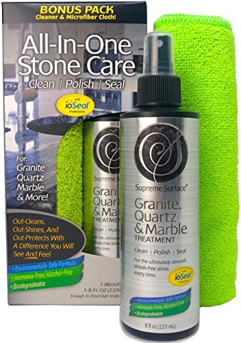 Supreme Surface Granite, Quartz & Marble Cleaner Polish and Sealer