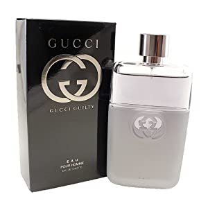 Gucci Guilty Eau Pour Homme for Men Eau De Toilette Spray, 3 Ounce