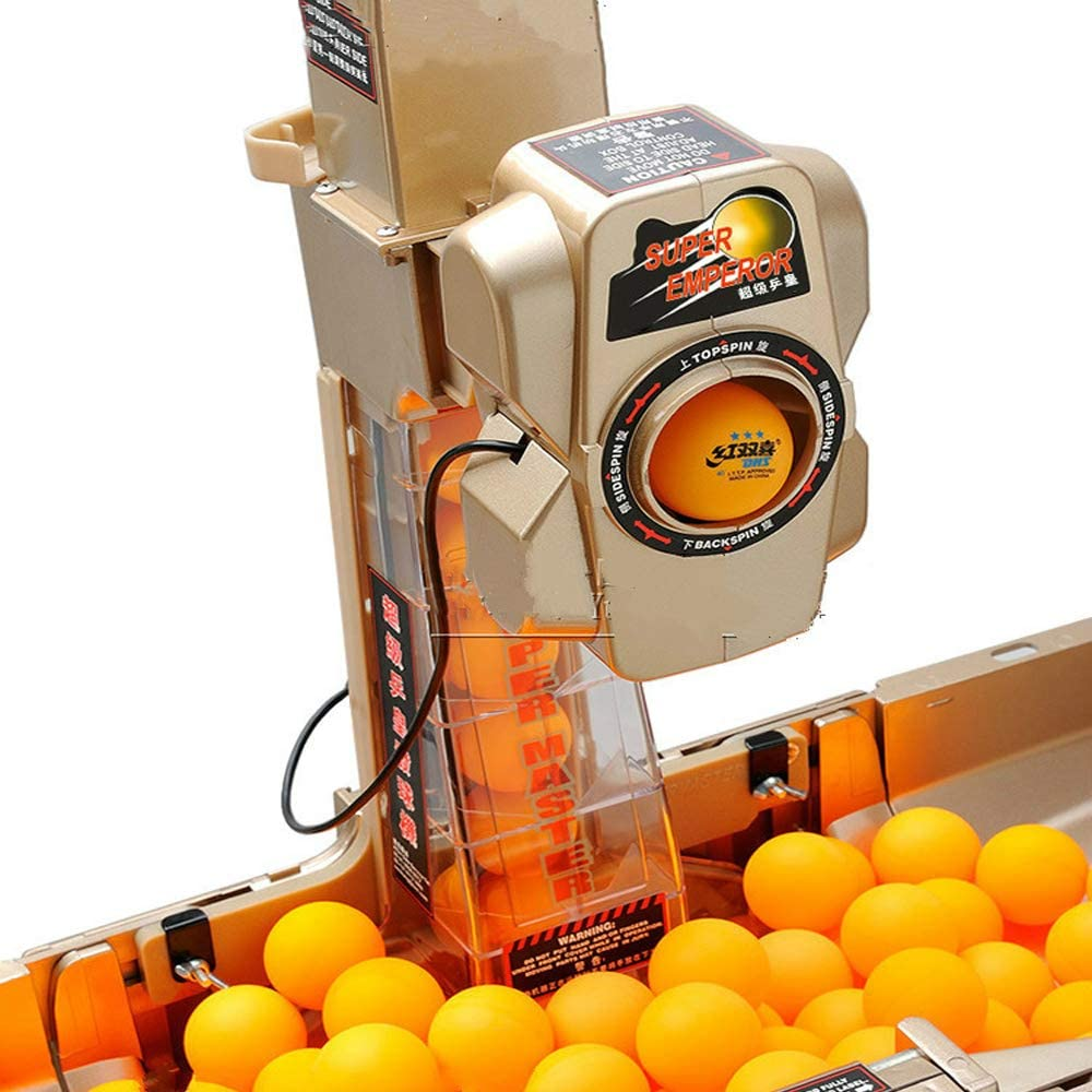 RROWER Ping-Pong Robot Máquina con 36 Diferente con la Vuelta de ...