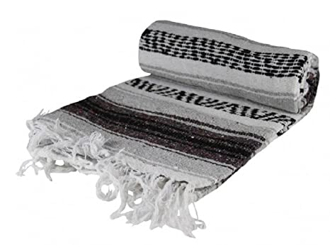 ed05a73685 Image Unavailable. Image not available for. Color  Authentic Mexican Falsa  Blanket ...