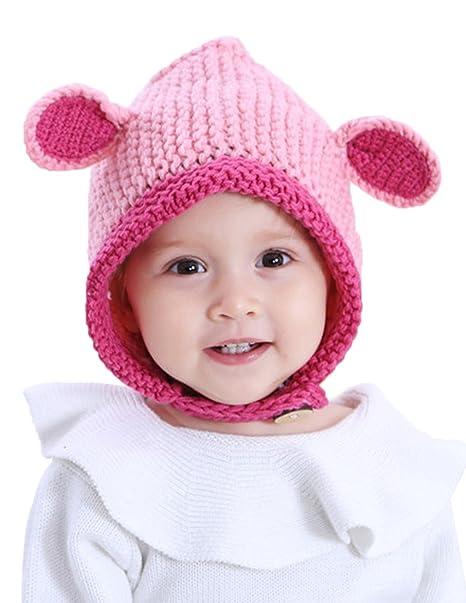 GEMVIE Sombrero Gorro de Invierno Caliente con Orejas para Bebé ...