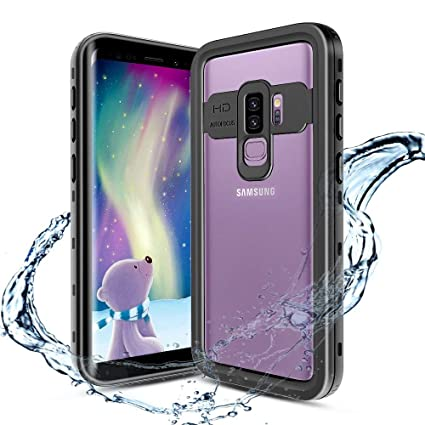 outlet store b66ec 19d47 XBK Samsung Galaxy S9+ Plus Case, Waterproof Case with Built-in Screen  Protector,Full-Body Rugged Resistant Protective Hard Cover Case for Galaxy  S9 ...