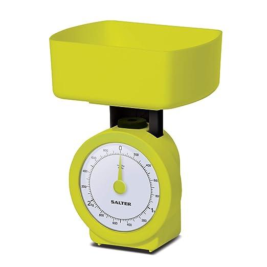 Báscula de cocina mecánica compacta salter, verde ...