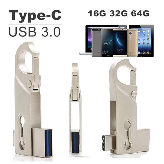 2 opinioni per SETAYO 64GB USB-C a USB 3.0 Flash Drive Memory Stick con portachiavi per MacBook
