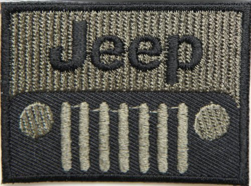 Jeep Patches 5.8x4.3 Cm Iron on Patch / Embroidered Patch This Appliques Are Great for T-shirt, Hat, Jean ,Jacket, Backpacks.