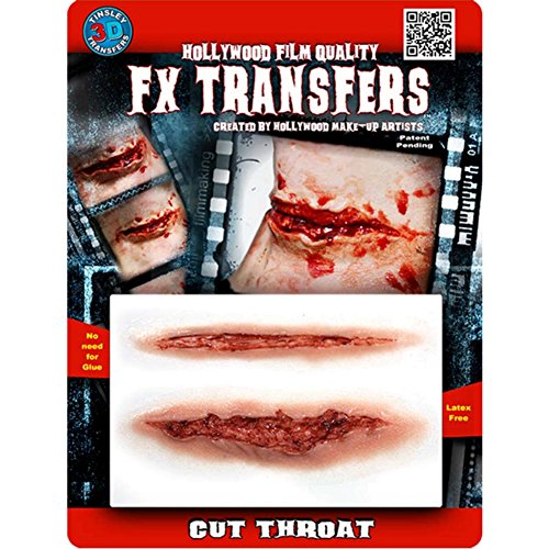 Tinsley Transfers  Cut Throat, Flesh/Multi, One -